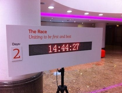 LED TICKER SHOWING COUNTDOWN