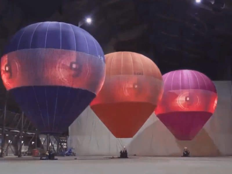 LED DISPLAY HOT AIR BALLOONS
