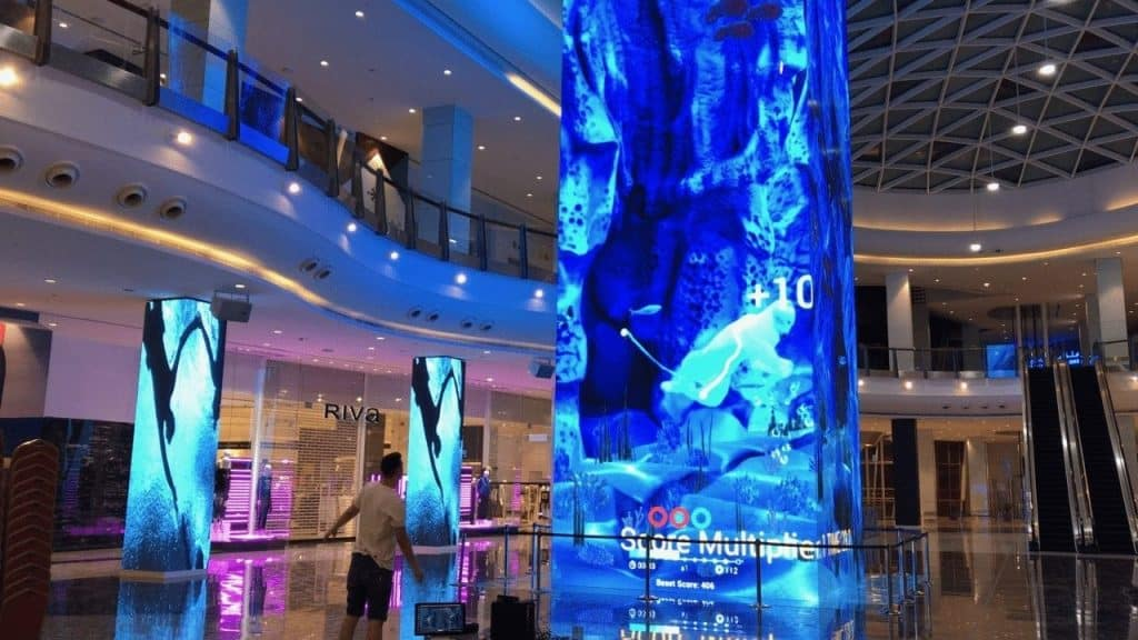 LED video tower in Muscat