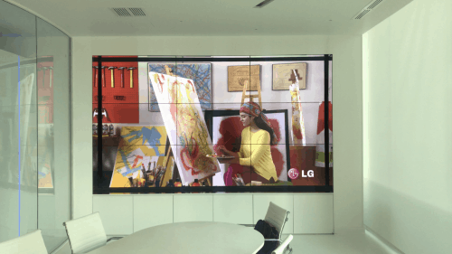 """3 X 3 VIDEO WALL - 55"""" - Phillips bdl5588xc - Installed"""