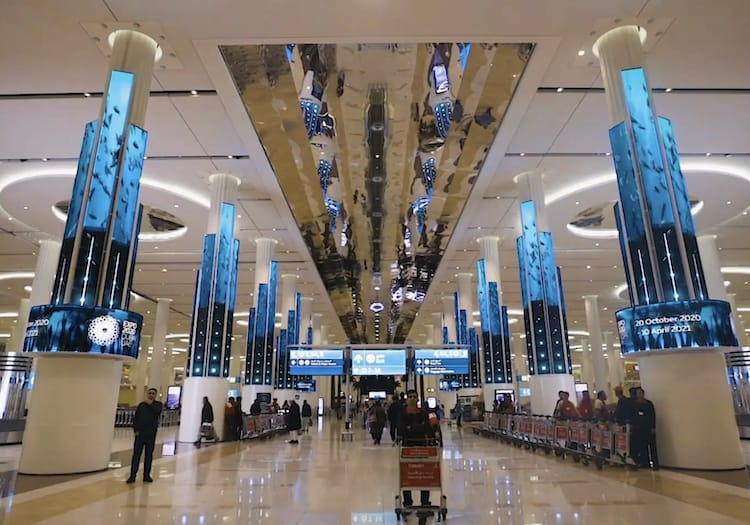 Dubai Airport LED Screens
