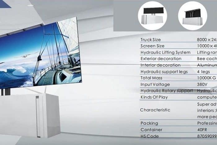 led screen trailer specification