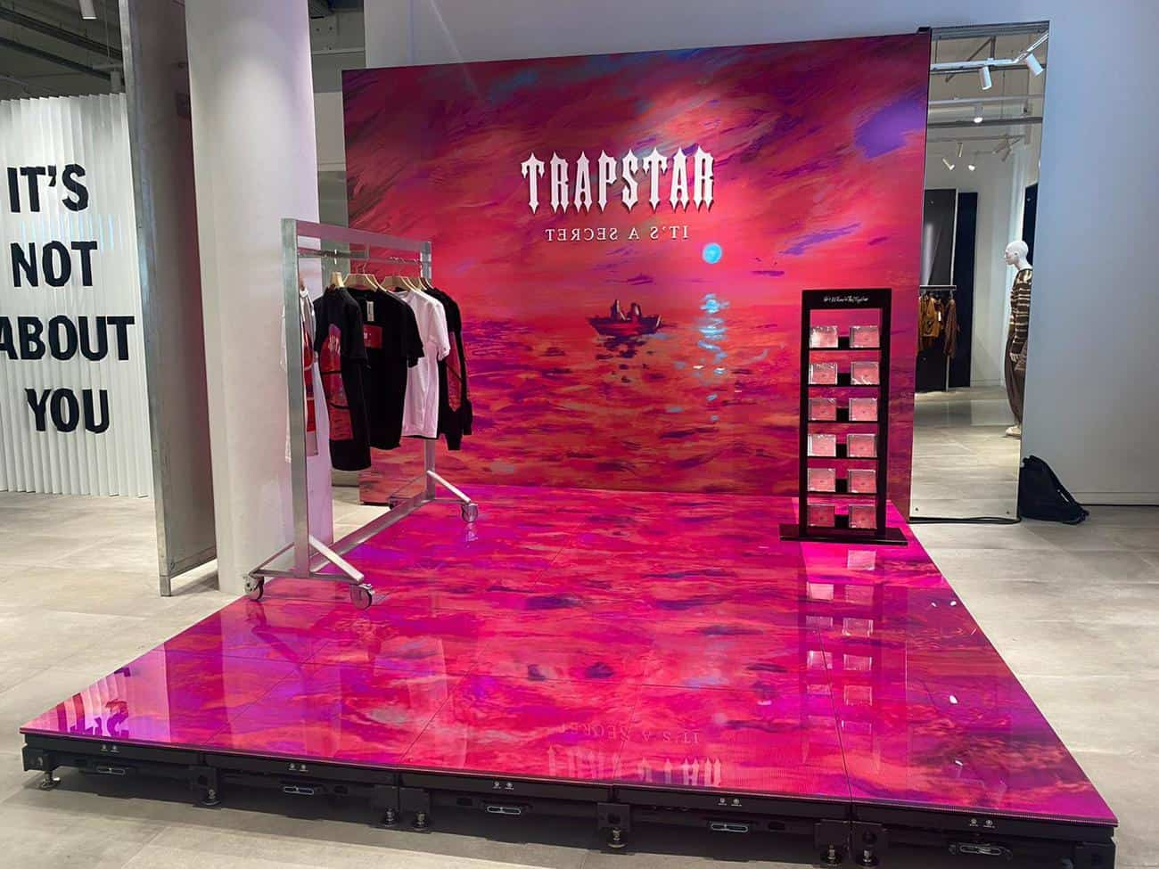 led screen hire clothing launch